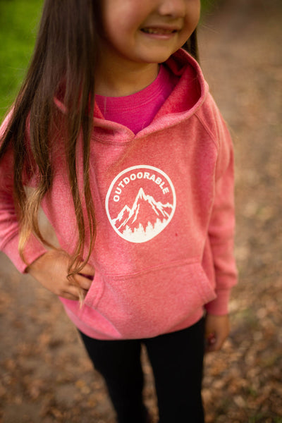 Outdoorable Heathered Pink Hoodie