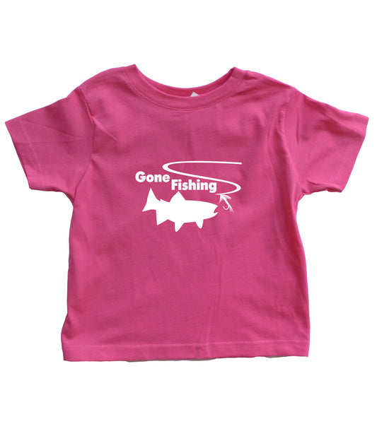 Gone Fishing Toddler Shirt