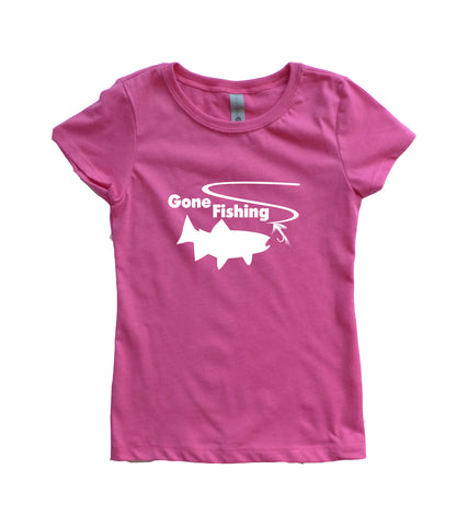 Gone Fishing Girls Youth Shirt