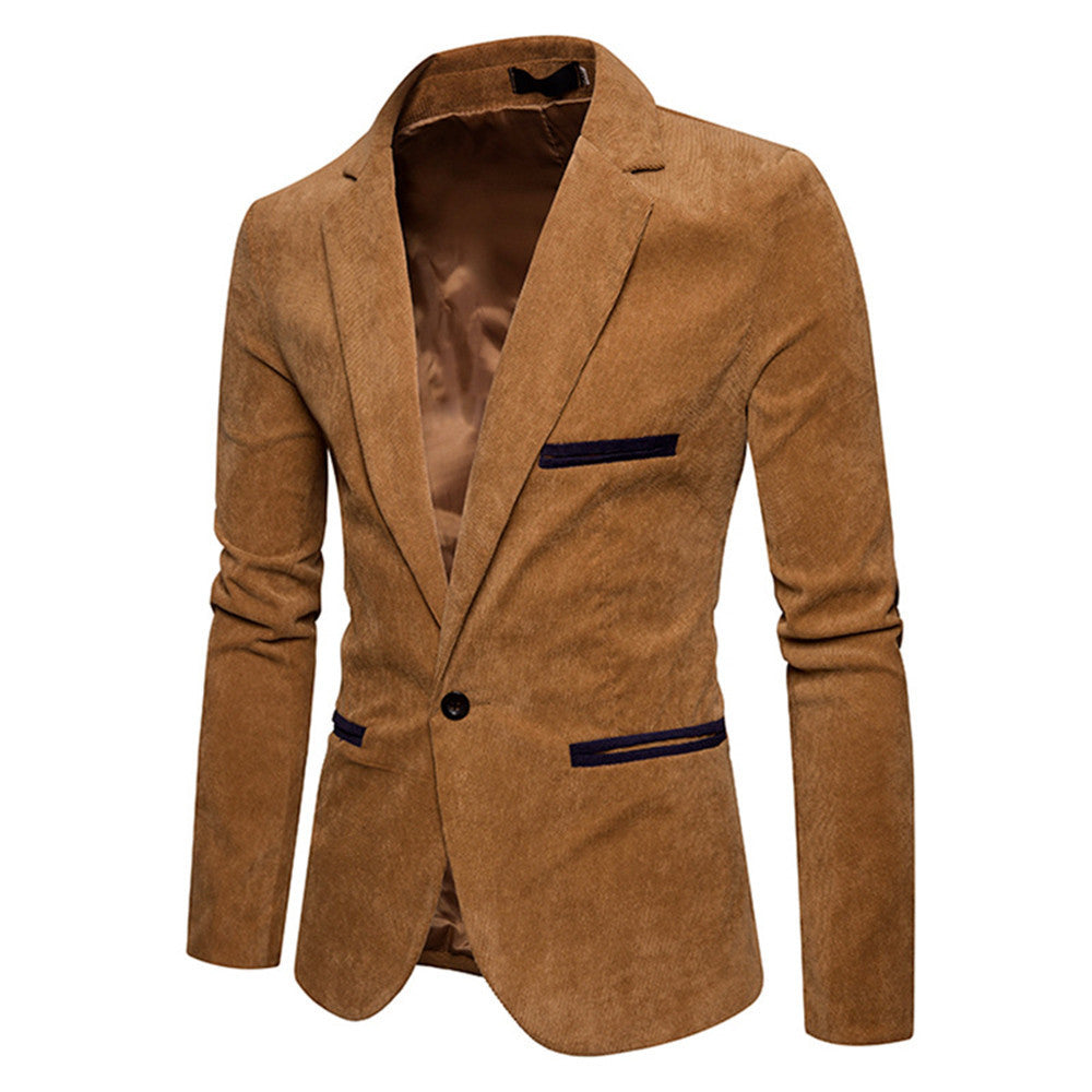 Men's Casual Corduroy Slim  Jacket