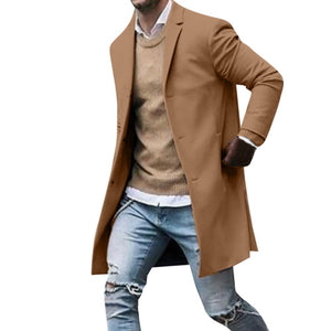 Men's Slim  Suit Jacket Trench Coat