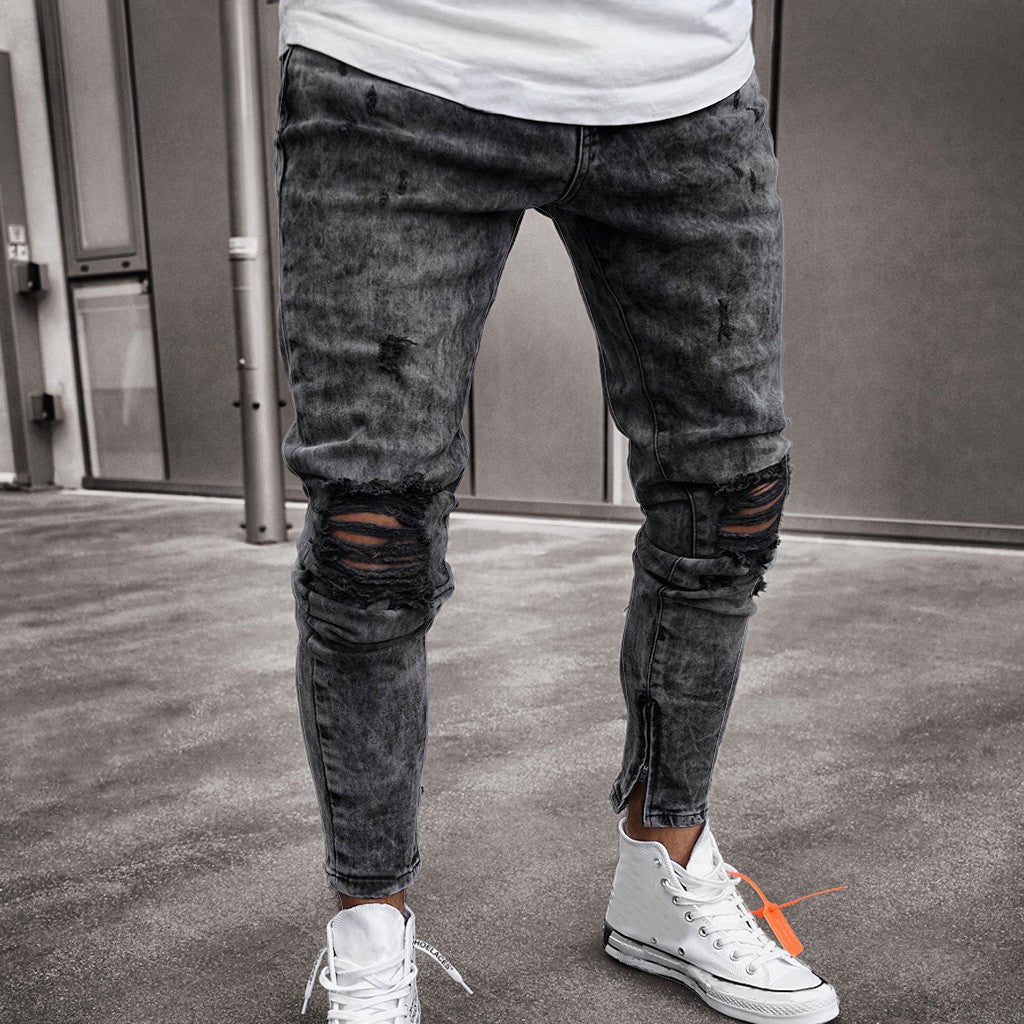 Mens Skinny Stretch Denim Pants
