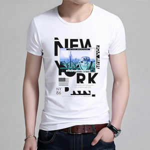 Men's New Printed Short Sleeves Fashion Cultivation