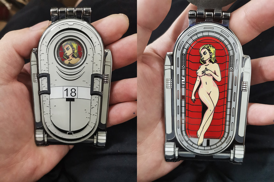 Nude Capsule Android 18 with Hinged Cover (PRE-ORDER)