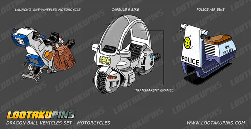 Dragon Ball Vehicles Set (Motorcycles)