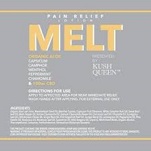 Load image into Gallery viewer, KUSH QUEEN - MELT CBD PAIN LOTION - 100MG