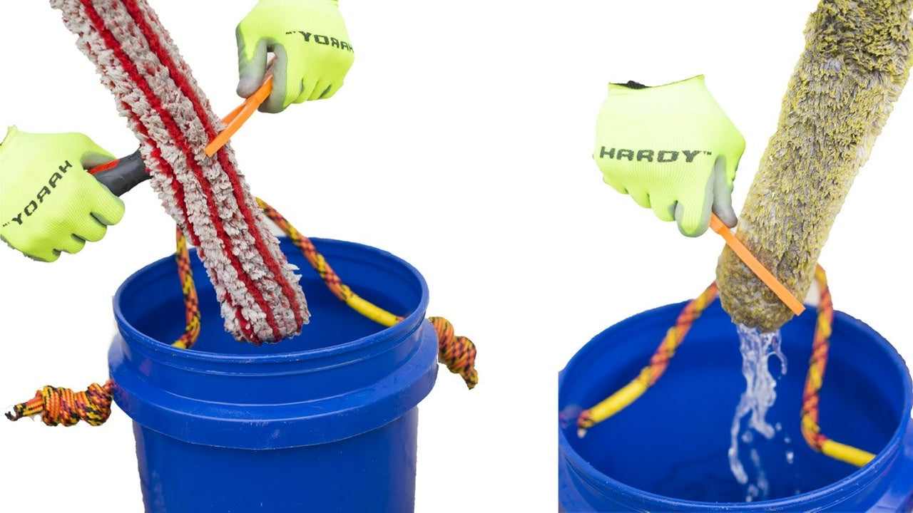 Bucket buddy window cleaning tool