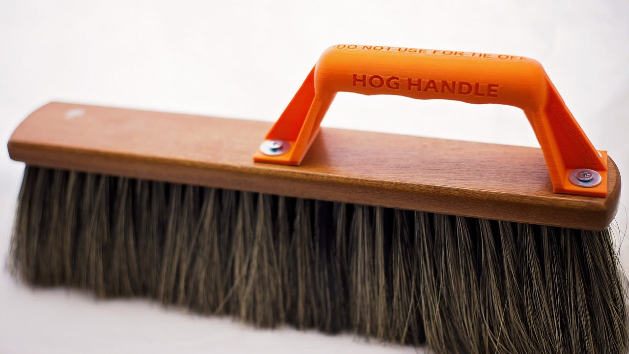 Boars hair brush handle