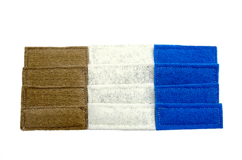 Tiger Fins Multi Pack Bronze Wool, Blue Pads, and White Pads