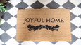 Joyful Home Mat on Checkers