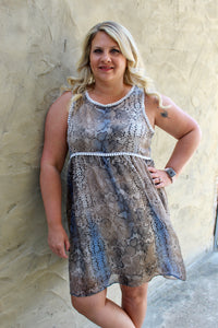 Curvy Snakeskin Dress