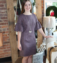 Load image into Gallery viewer, Plum Wool Dress