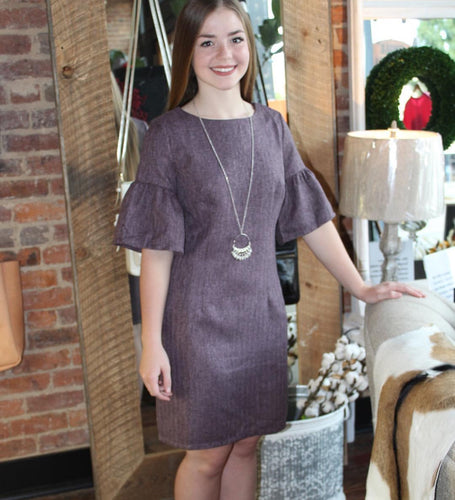 Plum Wool Dress