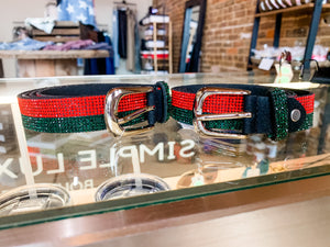 Gucci inspired traditional stripes belt
