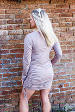 Load image into Gallery viewer, Mila Mocha ruched dress