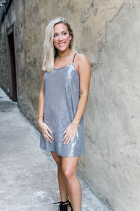 Silver makes my heart sparkle dress