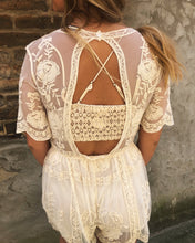 Load image into Gallery viewer, Ivory Lace Romper