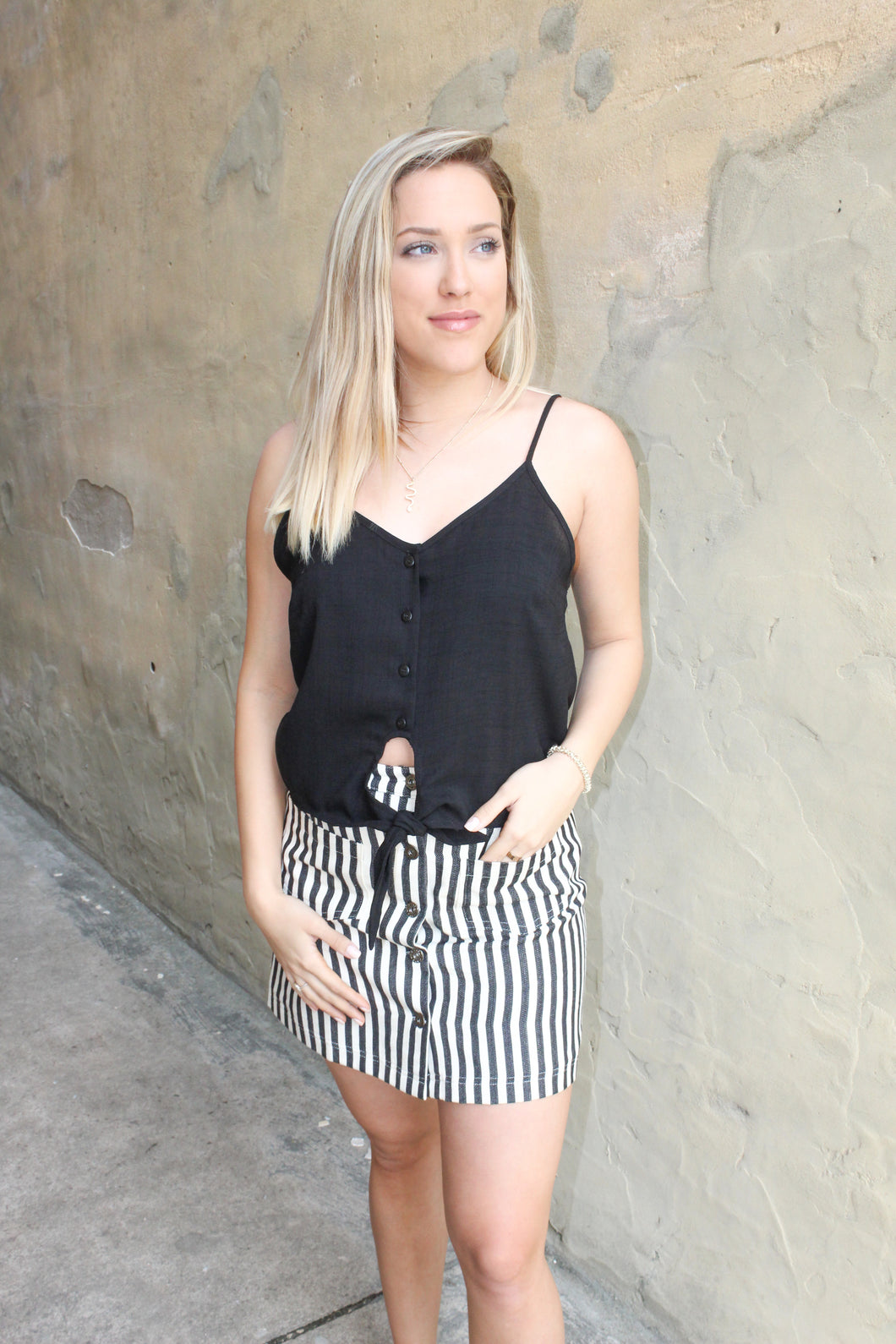 Get going skirt (charcoal/ivory)