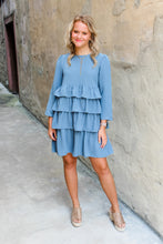 Load image into Gallery viewer, Macy Mineral Blue dress