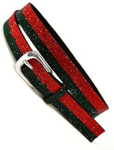 Load image into Gallery viewer, Gucci inspired traditional stripes belt