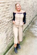 Load image into Gallery viewer, Taupe Denim Jumpsuit