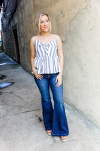 Load image into Gallery viewer, Striped Navy & White Top