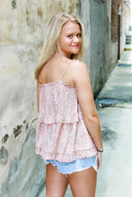 Load image into Gallery viewer, Beautifully Blush tiered ruffle top