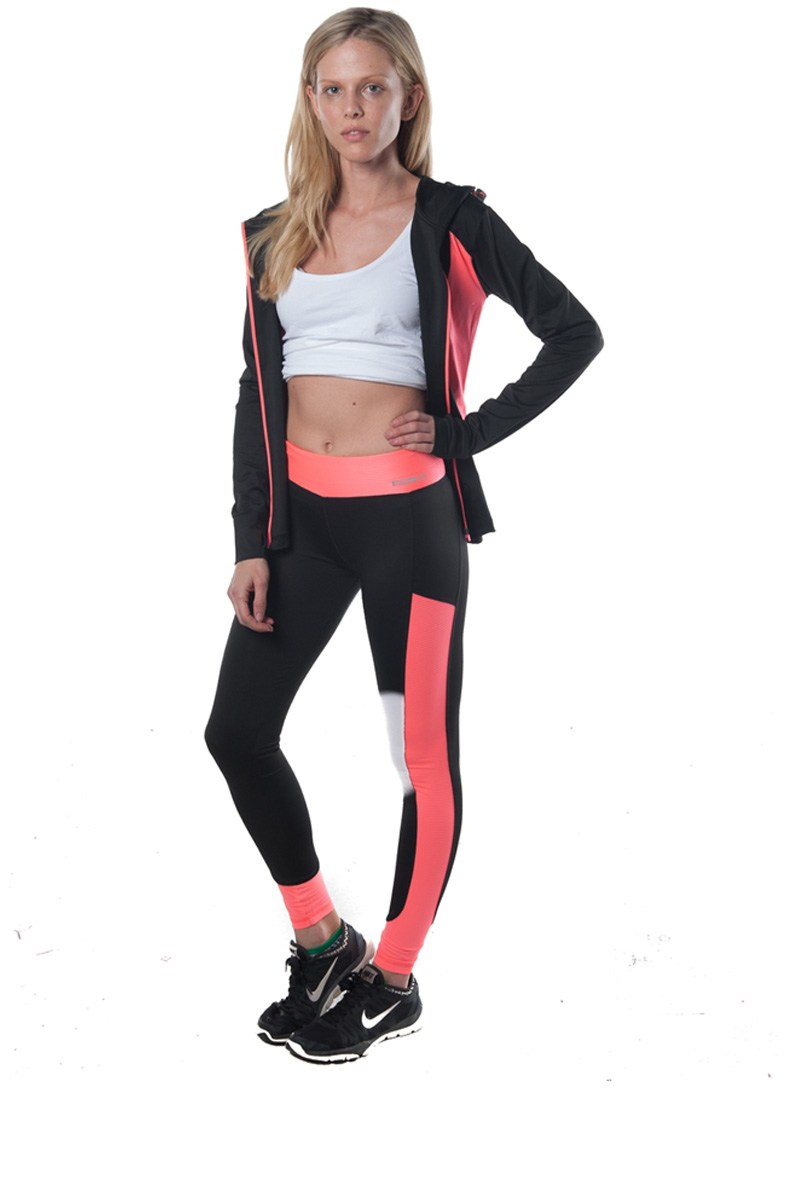 Ladies fashion active 2 pc set hooded outfit