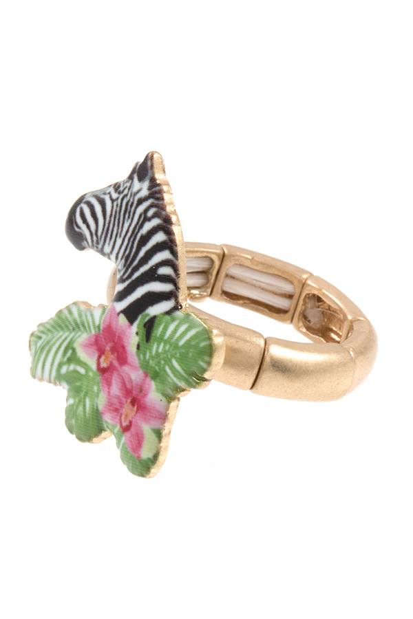Zebra stretch ring