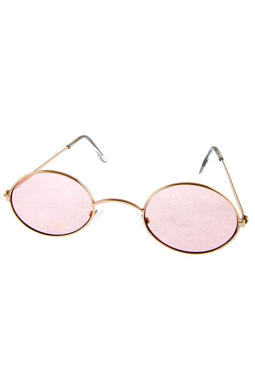 Womens oval metal vintage style retro fashion sunglasses