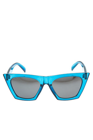 Color framed edge fashionable sunglasses