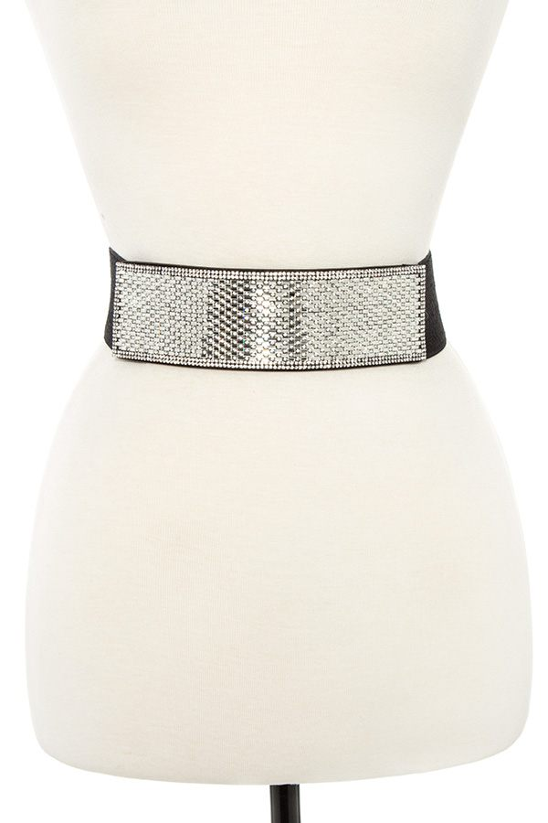 Studded detailed stretch belt
