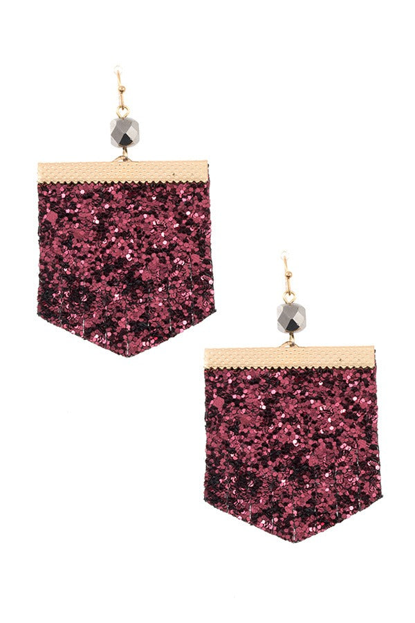 Sequin fashion earring