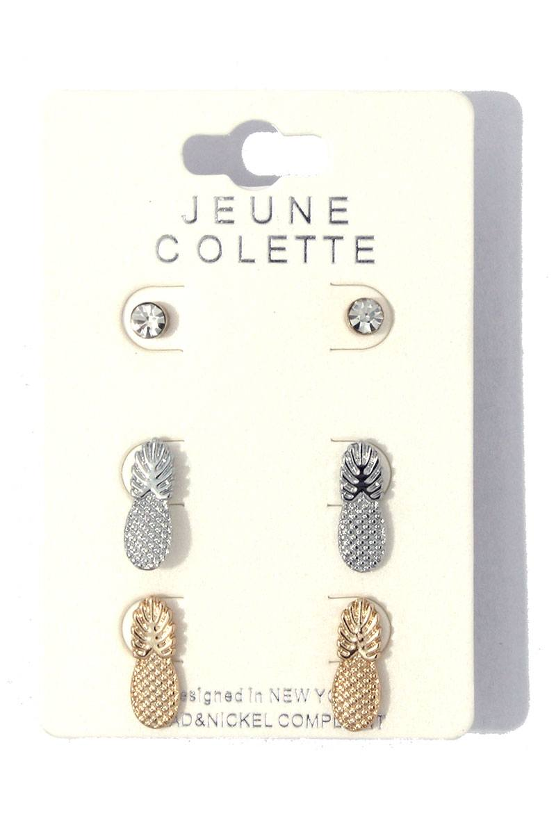 Pineapple earring set