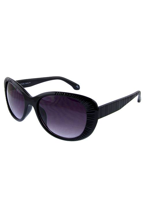 Womens ribbed whisker cat eye sunglasses