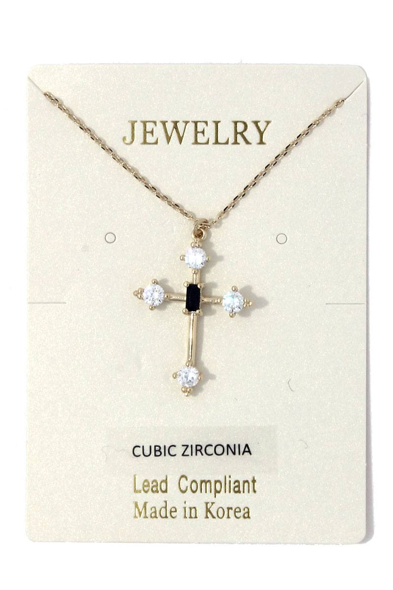 Cross charm necklace