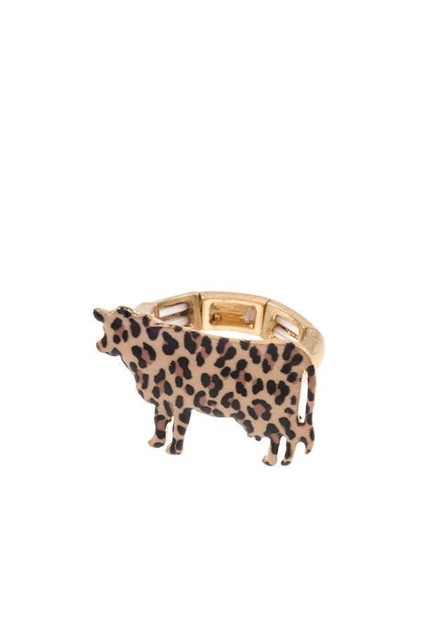 Animal print cow ring