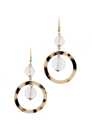 Acetate drop earring