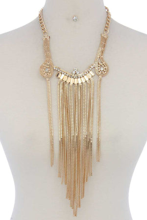 Rhinestone chunky necklace
