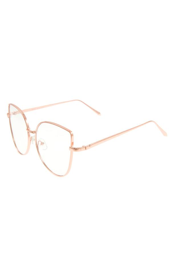 Oversize clear lens sunglasses