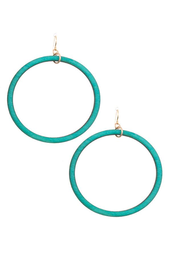 Wooded hoop earring