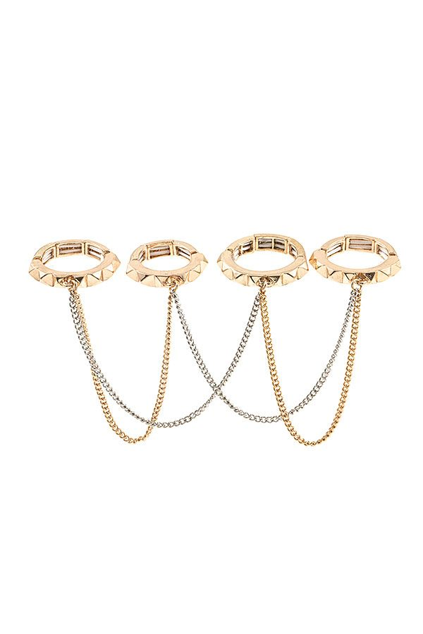 Draped Chain Ring Set