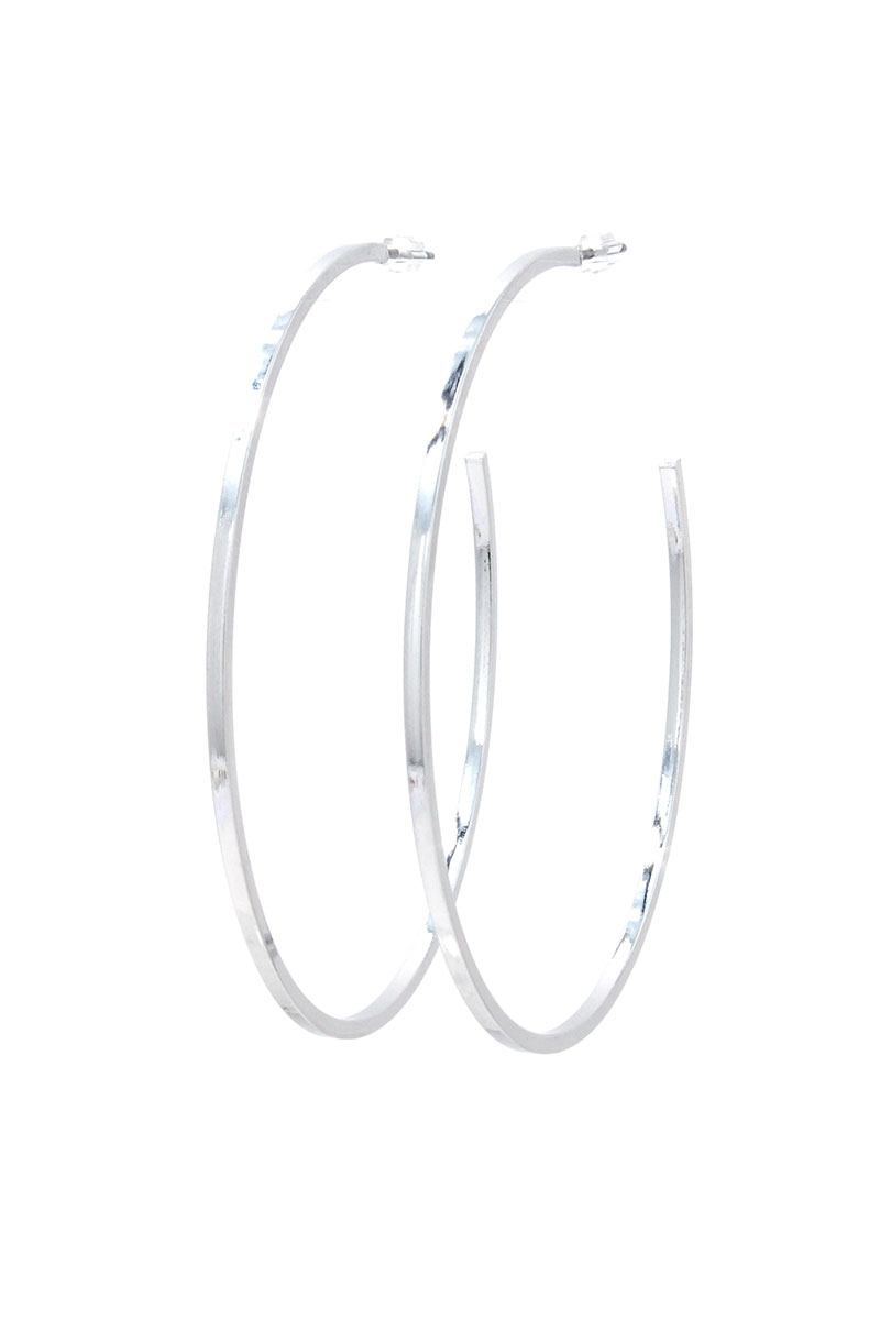 Open Metal Hoop Earring