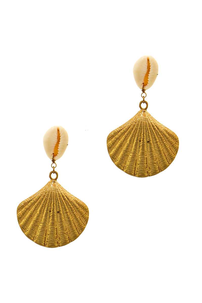 Designer Trendy Sea Life Shell Earring