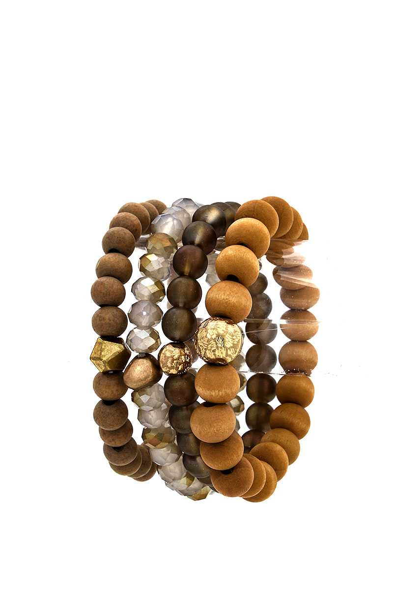 4 Beaded Fashion Bracelet Set