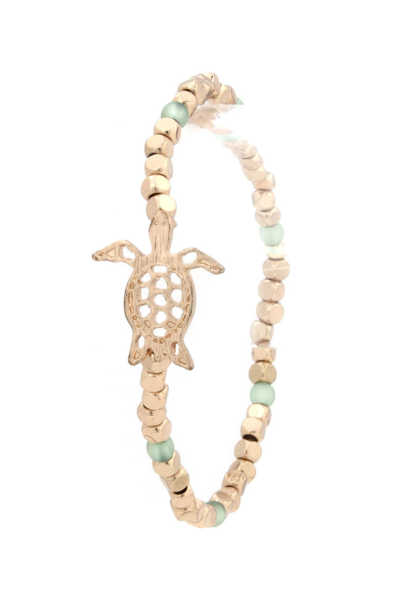 Sea Turtle Beaded Stretch Bracelet