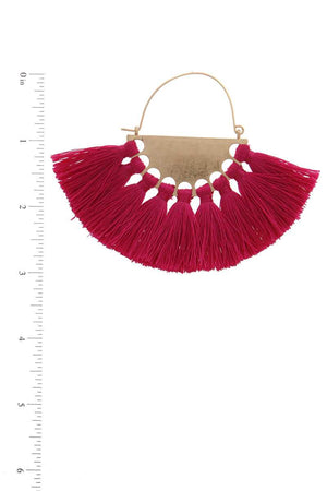 Fan Tassel Drop Earring