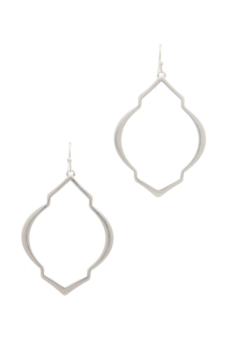 Moroccan Shape Metal Drop Earring