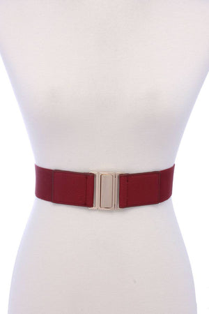 Metal Buckle Pu Leather Elastic Belt