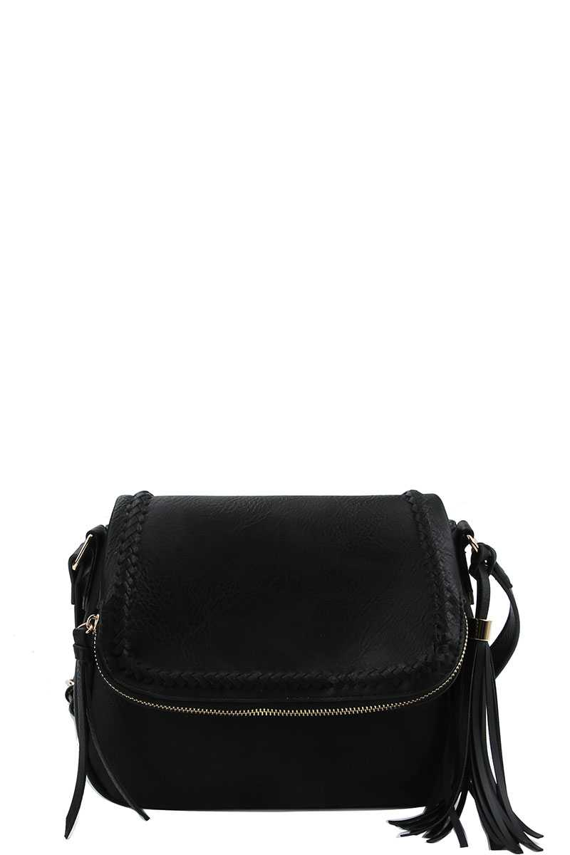 Designer Chic Stylish Tassel Crossbody Bag
